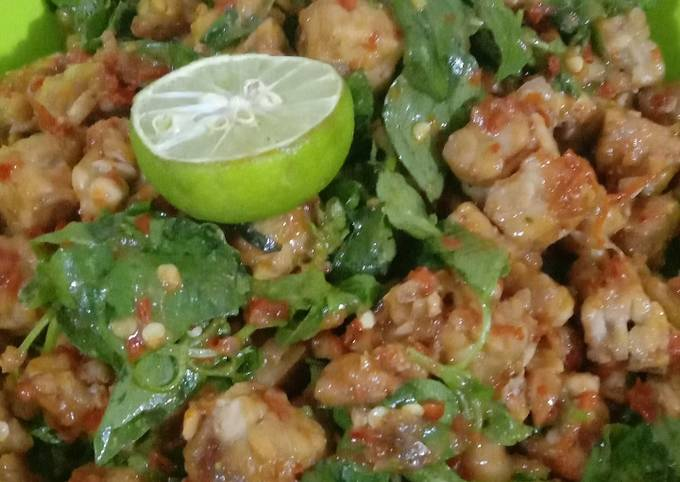 sambel goreng tempe kemangi - resepenakbgt.com