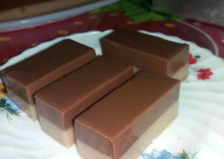 Puding Cokelat Nutrijel jeruk