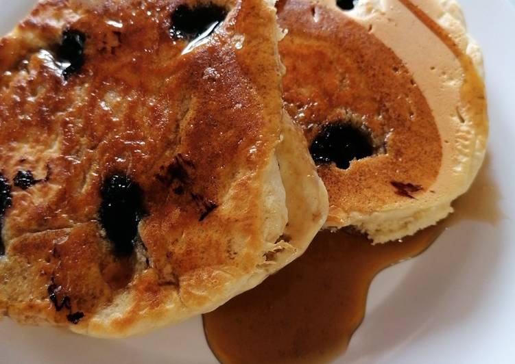 15 Minute How to Prepare Speedy Fluffy Blueberry Pancakes