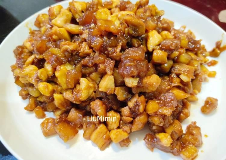 Resep Daging bakso ayam ala roti heinis / isian untuk roti/ bakpao Favorit