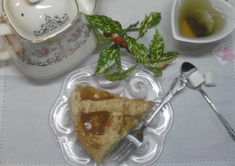 Steps to Make Perfect Greek Apricot Jam Tart (Pasta Flora)