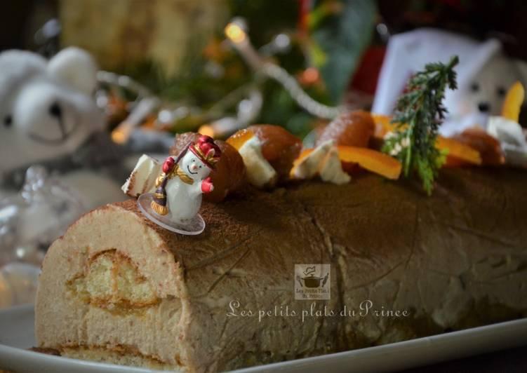 Bûche de Noël à la crème de marron et orangettes, la recette simplissime