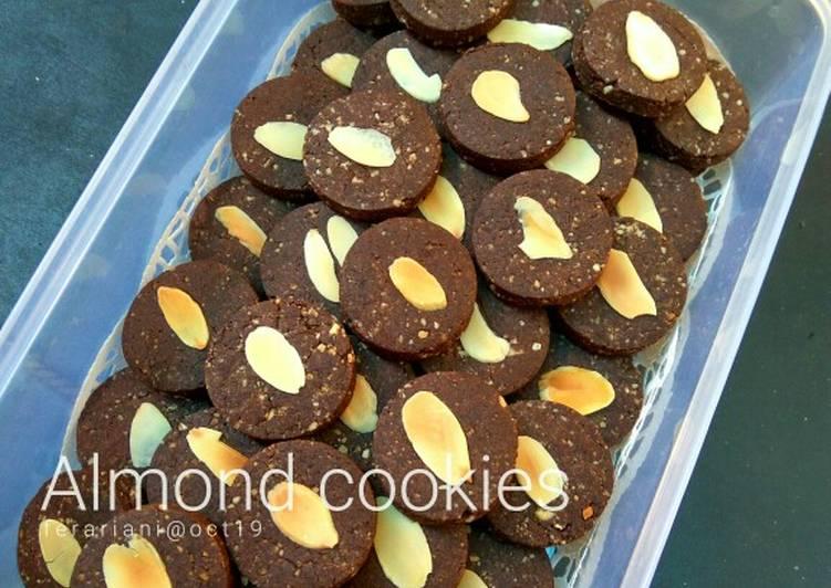 Gluten-free egg-free dairy-free choco almond cookies
