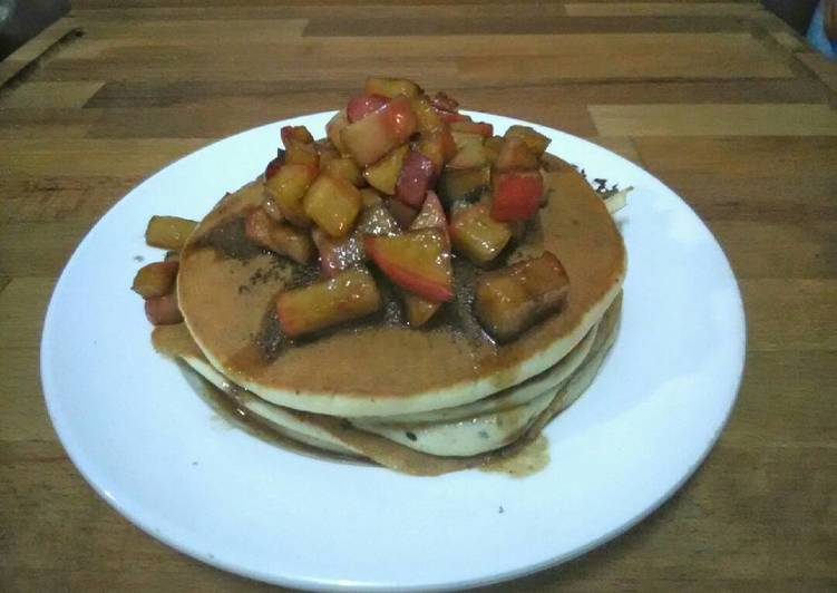 McDonald's Vanilla Smoothie Pancakes with Homemade Cinnamon-Apple Syrup