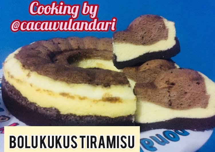 Bolu kukus TIRAMISU lapis coklat/susu/tiramisu mudah bikinnya tanpa timbangan