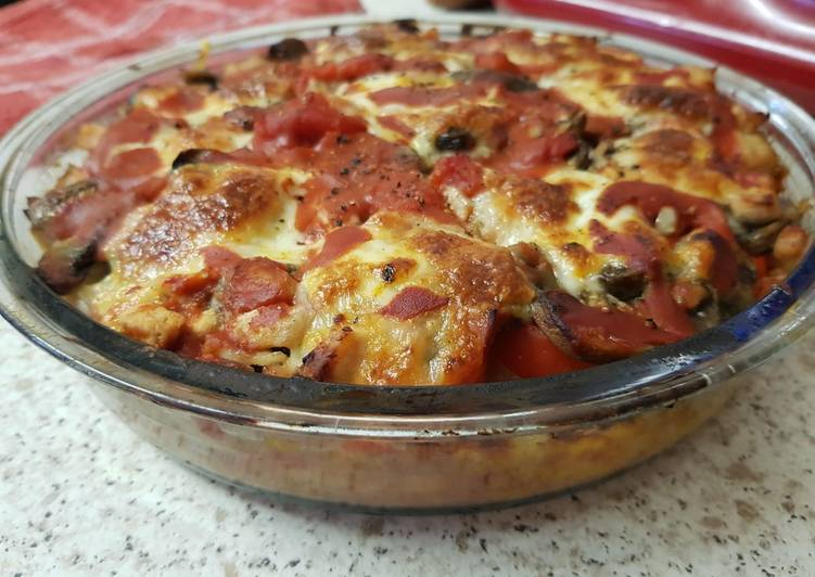 Recipe: Perfect Layered Chicken, mushroom and Parma ham bake 😀