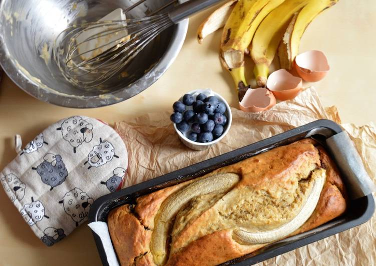 Banana bread. Apto para personas con diabetes
