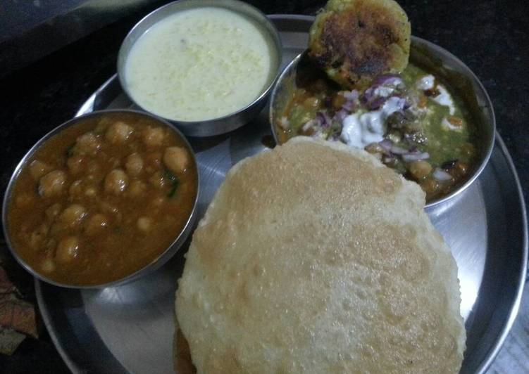 The Best Soft and Chewy Dinner Easy Fall Chole bhature, ALOO Tikki, kheer