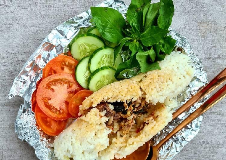 Nasi Bakar isi suwir Tongkol (tanpa daun pisang)