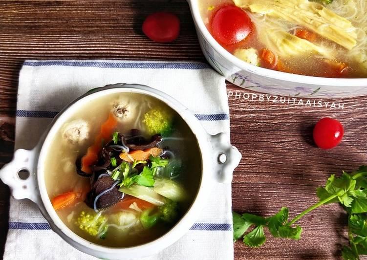 Sup bebola ikan vegitarian