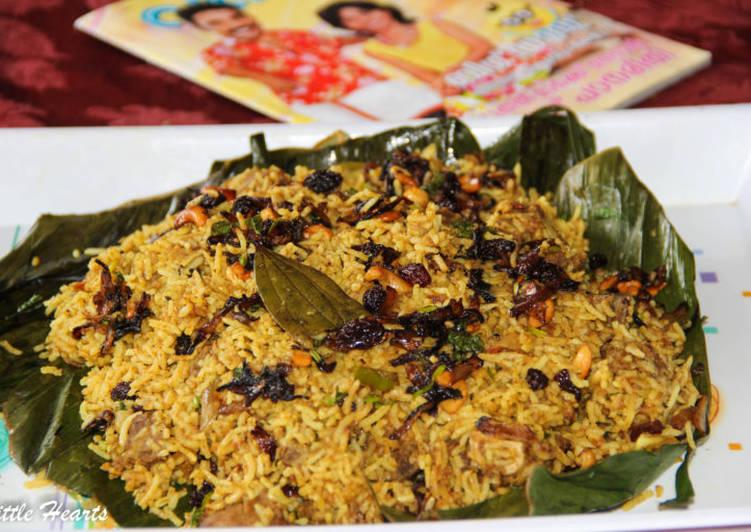 Recipe: Nice Vazhayilayil Oru Suriyani Biriyani / Kerala Suriyanese Style Biryani Wrapped in Banana Leaf