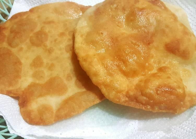Recipe of Any-night-of-the-week Plain Poori/ Plain Puff Pastry😊