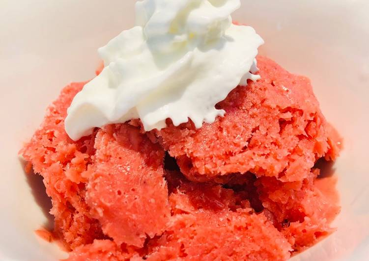 Recipe: Appetizing Strawberry 🍓 Vodka Sorbet