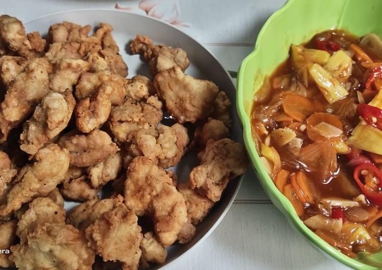 Ayam krispy saus asam manis
