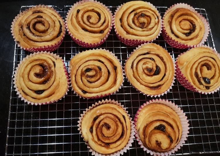 Cinnamon rolls / roti rasa kayumanis isi coklat