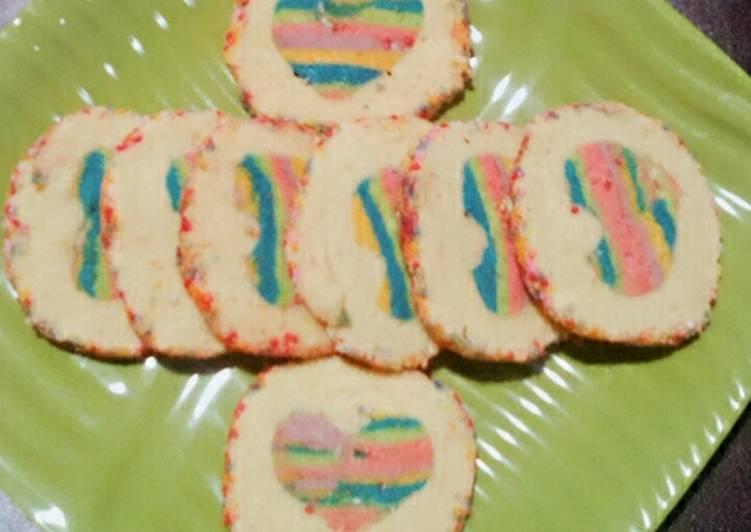 Rainbow in Vanilla Cookies