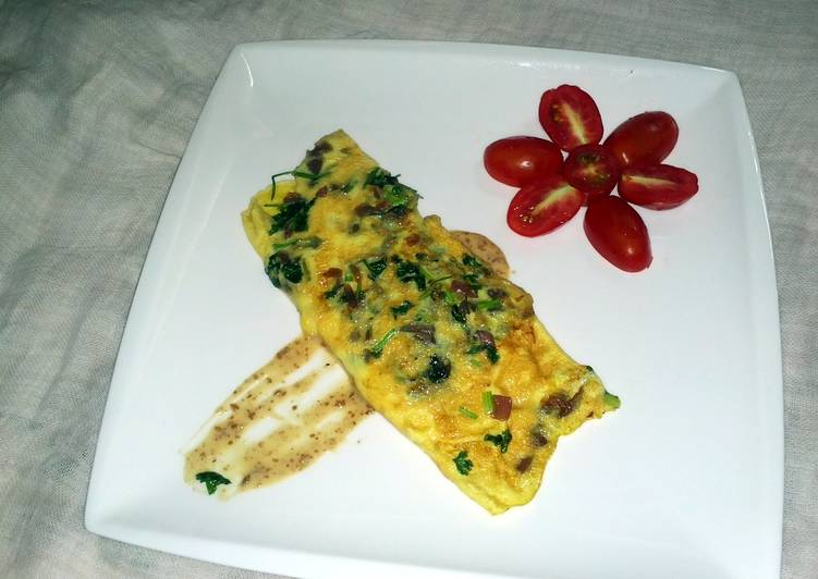 Recipe: Delicious Onion-Coriander Omelette
