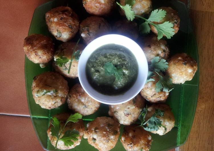 Sago Potatoes balls (Savoury Indian Snack)