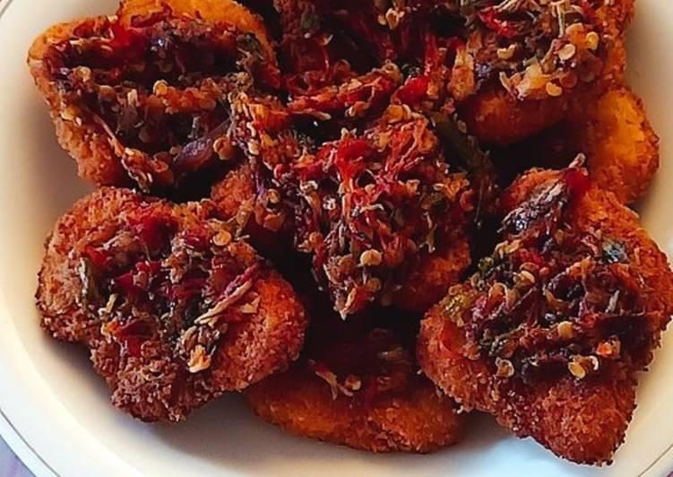 Nugget ayam sambal geprek