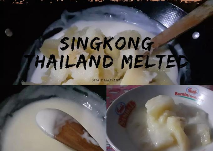 Bagaimana Membuat Bubur Singkong Thailand Melted Kental Simple Tanpa Daun Pandan  Anti Gagal