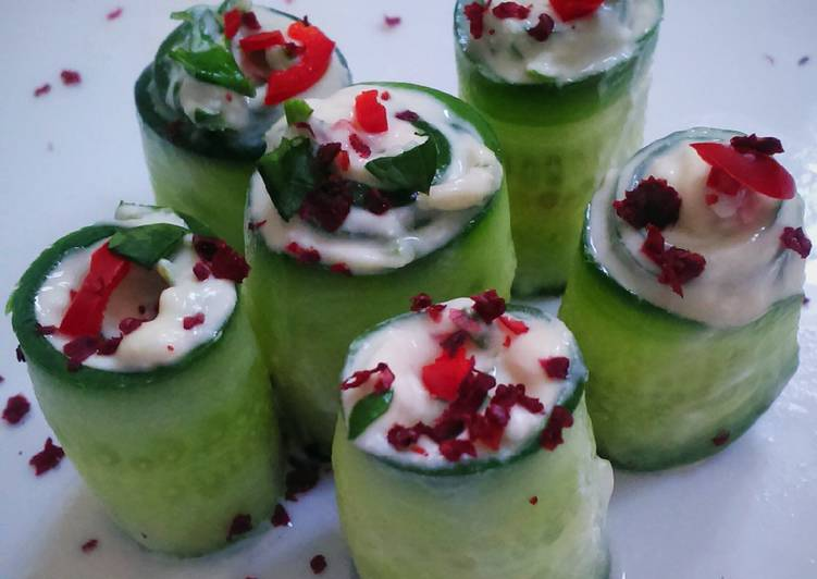 Recipe of Any-night-of-the-week Cucumber rolls (salad)