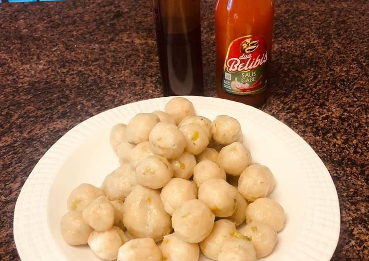 Grandmother's Dinner Easy Special Cilok (savoury tapioca balls)