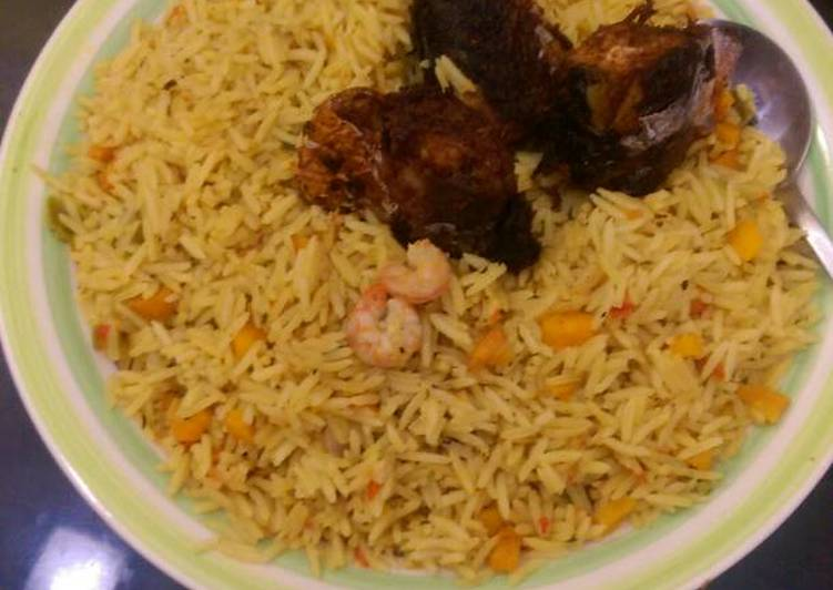 What are some Dinner Easy Autumn Jollof rice with prawns,carrots and titus fish