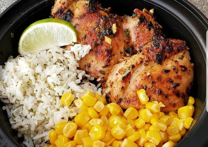 Spicy Coconut Grilled Chicken Thighs