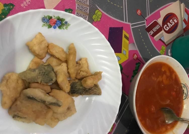Ikan nila goreng goreng tepung saus padang mudah banget resepnya 😊