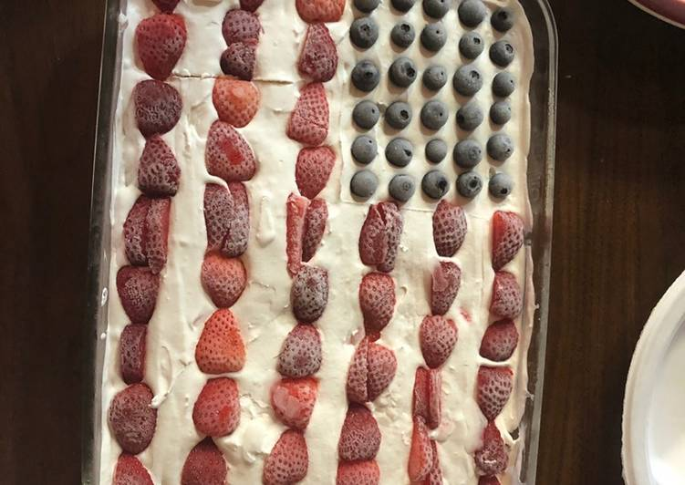 Recipe of Award-winning 4th july short cake