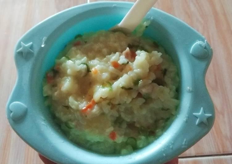 Nasi Tim Ayam sayur 12+