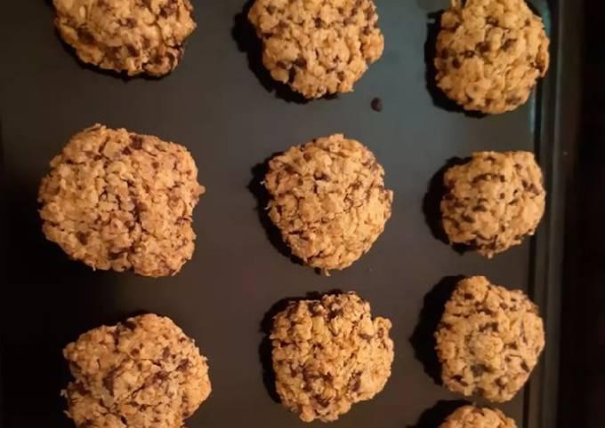 Choco oat cookies 3 bahan untuk Diet