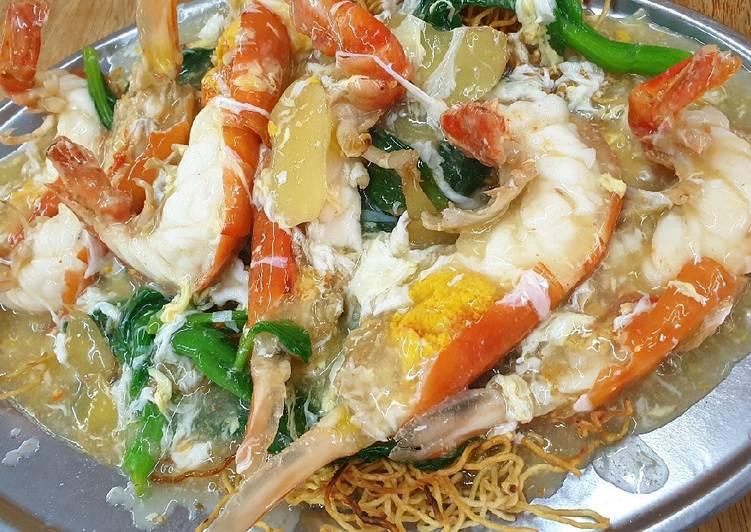 Recipe: Delicious River Prawn Noodles 生虾伊面