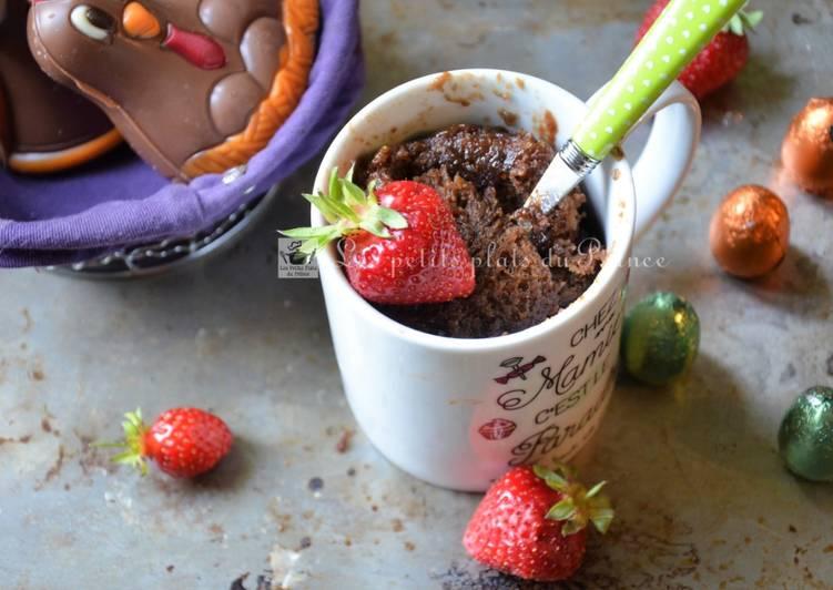 Recette Appétissante Mug cake recyclage d'oeufs de Pâques