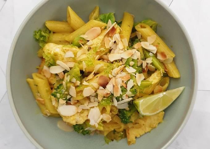 Schnelle Curry-Hähnchen-Pasta