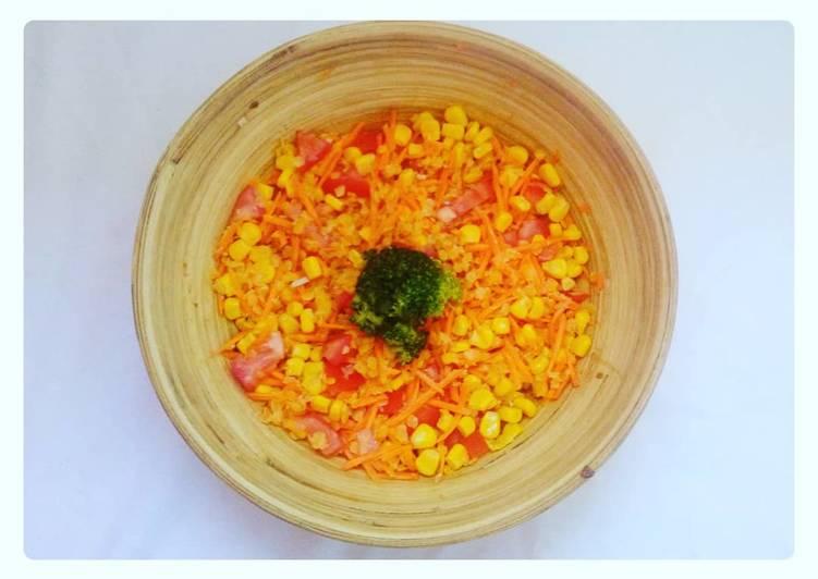Comment Cuisiner Salade de carottes, lentilles de corail 🥗🥕