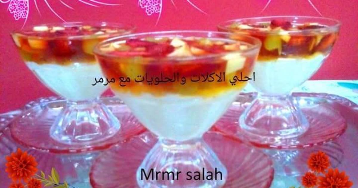 ارز باللبن مع طبقة الچيلي بالفواكه بالصور من Mrmr Salah كوكباد