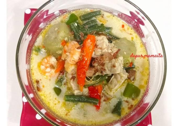 lodeh ala mamaita 😉 (udang, tempe, terong, kacang panjang) - resepenakbgt.com