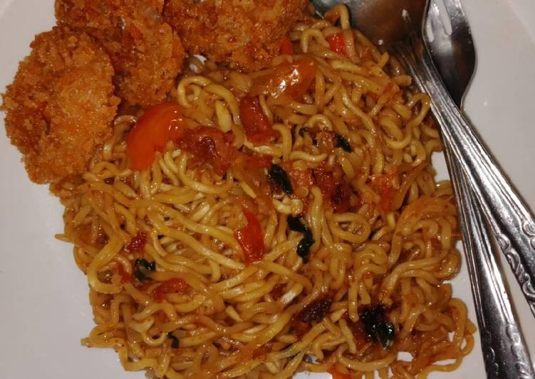 Resep Indomie Goreng oseng mercon Terenak