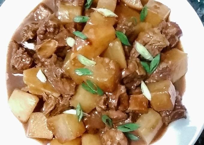 Cantonese beef brisket in chu how sauce