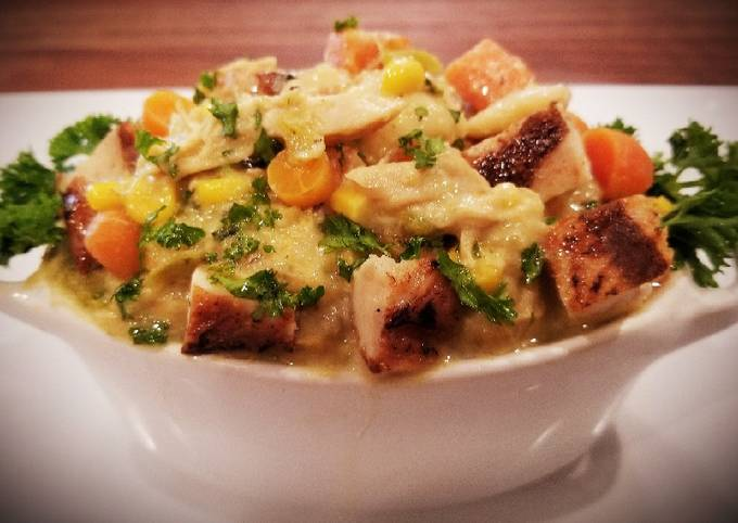 Mike's Green Chili Chicken & Dumplings With Super Stock