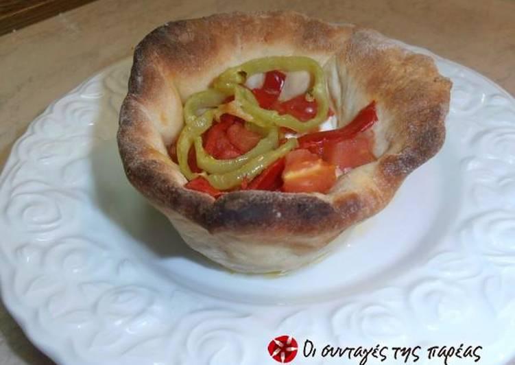 Bouyiourdi in a dough bowl alla Conna