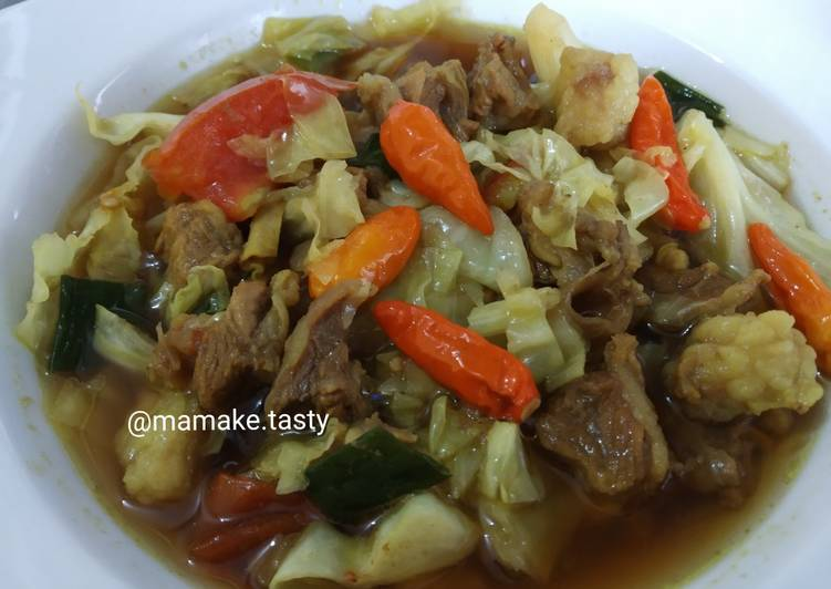 Tongseng daging sapi (no santan)