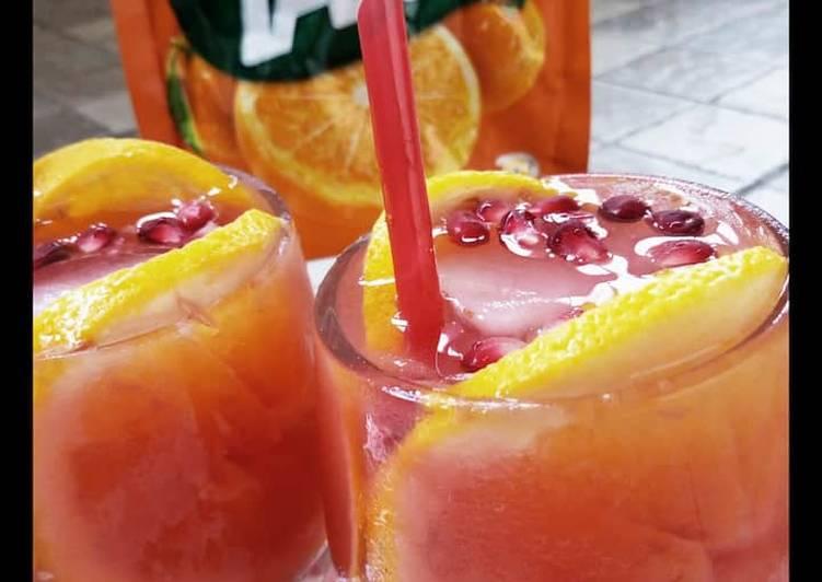 Orange mango drink