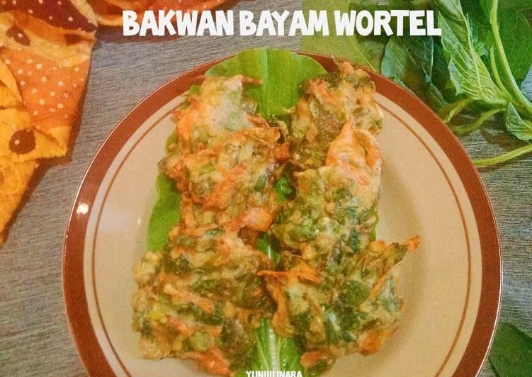 Bakwan Bayam Wortel