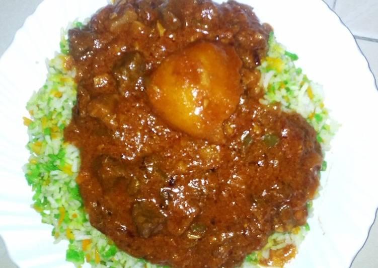 Steps to Make Homemade Swahili beef biriani #my rice dish contest