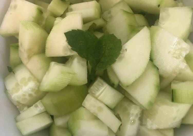 Easiest Way to Prepare Delicious Salade concombre menthe