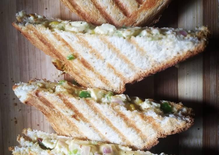 Recipe of Ultimate Smoked paneer sandwich