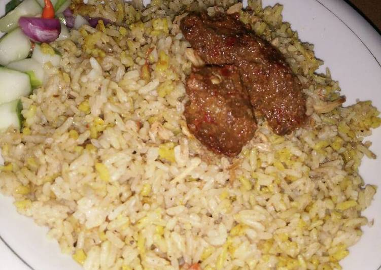 Nasi Briyani Sederhana (tanpa Saffron dan yogurt)
