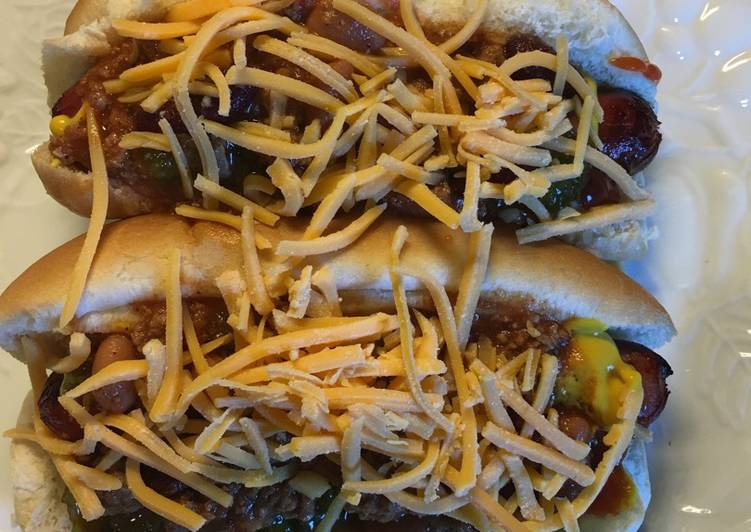Chili Cheese Hotdogs